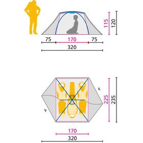 Jack Wolfskin Skyrocket III Dome tent groen